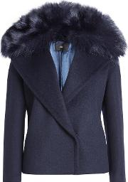 Jacket With Wool And Faux Fur