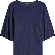Jersey Top With Cashmere