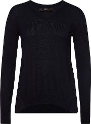 Knit Pullover With Pleated Back