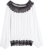 Off Shoulder Blouse With Lace