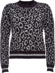 Printed Cardigan With Mohair