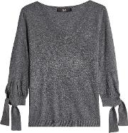 Pullover With Knotted Sleeves