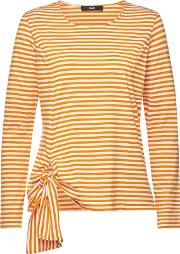Striped Cotton Long Sleeve Top