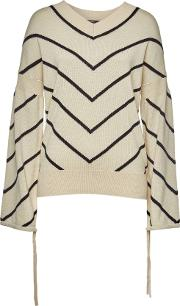 Striped Pullover With Cashmere
