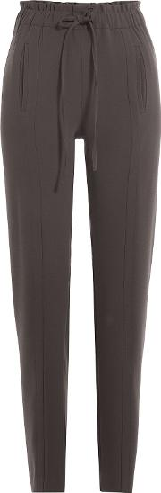 Tapered Pants With Drawstring Waist