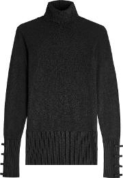 Turtleneck Pullover With Bows