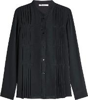 Silk Blouse With Pleats