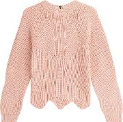 Pullover With Scalloped Hemline
