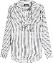 Striped Blouse With Cotton
