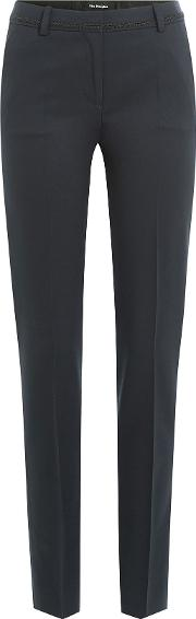 Wool Pants With Cornelli Trim