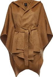 Wool Poncho With Cashmere