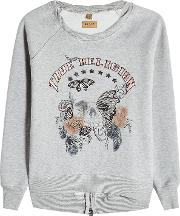 Embroidered Sweatshirt With Cotton