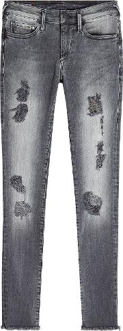 Halle Distressed Skinny Jeans