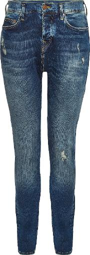 Rocco Trueflex Straight Leg Jeans With Distressed Detail