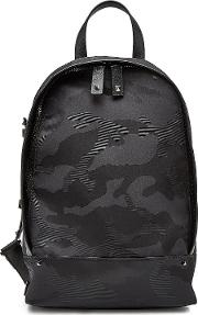 Camouflage Backpack With Leather