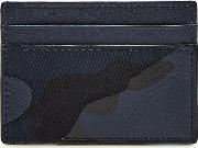 Camouflage Card Holder With Leather
