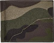 Camouflage Print Leather Card Wallet