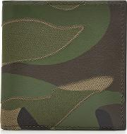 Camouflage Wallet With Leather