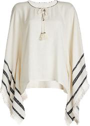 Embroidered Poncho Blouse