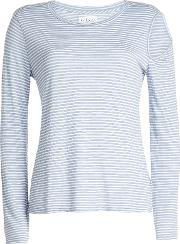 Striped Top With Cut Out Detail