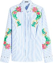 Embroidered And Embellished Cotton Shirt