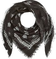 Printed Scarf With Silk