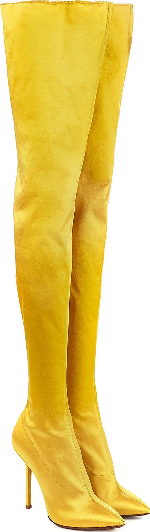 9c6f4fe791f vetements Thigh High Satin Boots
