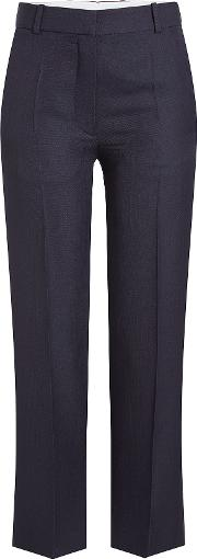 Cropped Pants With Wool