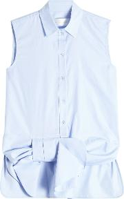 Sleeveless Cotton Blouse With Bow Detail