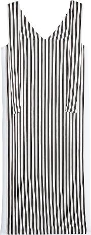 Striped Shift Dress With Ties