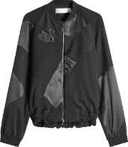 Wool Bomber Jacket With Silk