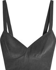 Bra Top With Silk And Linen
