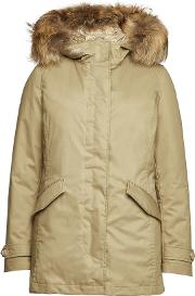 3 In 1 Arctic Cotton Down Parka With Fur Trimmed Hood
