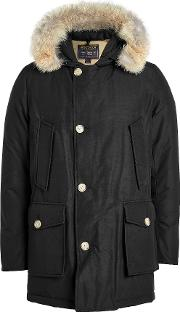 Arctic Down Parka With Fur Trimmed Hood