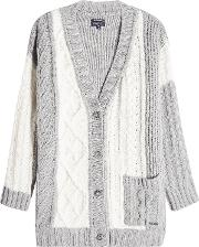 Cardigan With Wool, Cashmere And Angora