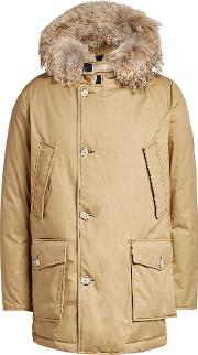 Down Parka With Fur Trimmed Hood
