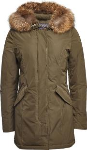 Luxury Arctic Down Parka With Fur Trimmed Hood