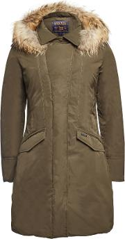 Modern Vail Down Coat With Fur