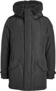 Polar Down Parka With Shearling Lining