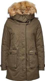 Scarlett Down Parka With Fur Trimmed Hood
