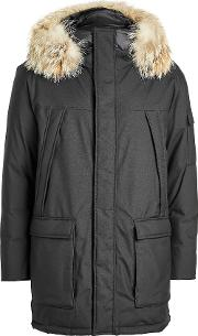 Teton Explorer Down Parka With Fur Trimmed Hood