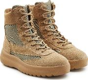 Boots With Suede And Mesh