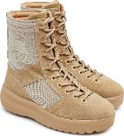 Suede Boots With Mesh