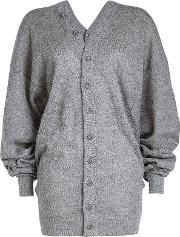 Draped Cardigan With Mohair And Wool