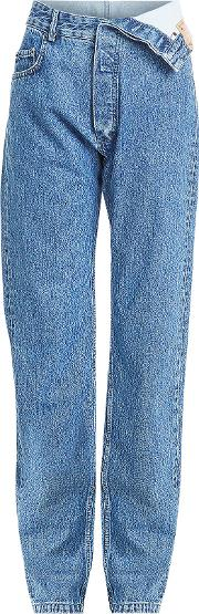 Jeans With Asymmetric Waistband