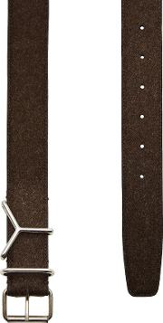 Y Belt In Leather And Wool