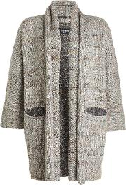 Cardigan With Wool, Alpaca, Silk And Mohair