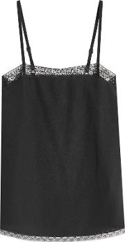 Carmen Silk Camisole With Lace