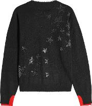 Cashmere Pullover With Glitter Stars