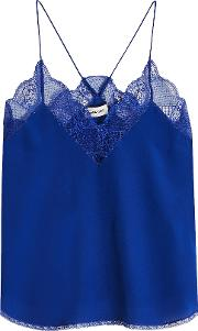 Christy Silk Camisole With Lace
